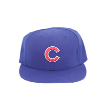 Vintage 90s New Era Chicago Cubs MLB Baseball Fitted Hat Cap Blue  Size 6 5/8
