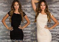 Miniabito Vestito Donna  Vestitino Abito Tunica NICOLE KS77-B606 Tg Unica  **
