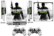 Skin Sticker for PS3 PlayStation 3 Slim and 2 controller skins COD MW3 Q201
