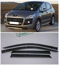 For Peugeot 3008 2009-2016 Side Window Visors Sun Rain Guard Vent Deflectors