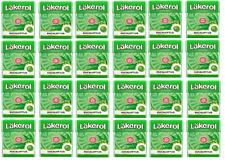 Cloetta Läkerol Eucalyptus Sugar Free Licorice Pastilles 25g * 24 pack 21oz
