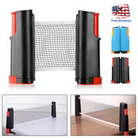 Games Retractable Table Tennis Ping Pong Portable Net Rack Kit Replacement Set