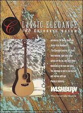Washburn 1996 Native American Series Cherokee D55SW Acoustic Guitar 8 x 11 ad