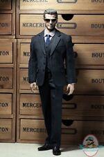 Pop Toys 1/6 Style Series Men's striped Suit in Black POP-X22B