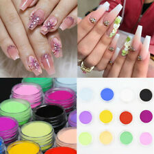 12 Boxes/Set Acrylic Powder Pink White Mixed Colors Extension French Nail Tips