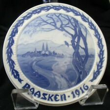Antique Bing & Grondahl (Paasken 1916 Easter) Plaque, Denmark Ceramics