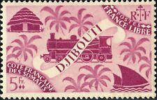CÔTE FRANÇAISE DES SOMALIS - 1943 - Yv.245 / Mi.257 5fr lilas-rose - Neuf*