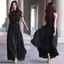 Sexy Women Summer Long Boho Maxi Evening Party Dress Chiffon Beach Dresses 2017