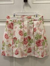 Janie and Jack White Pink Floral skirt size 4t 4 Adjustable Waist Vintage 2005