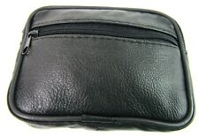 New Coin Pouch Money Real Soft Black Leather Credit Card Holder Wallet Purse