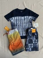 GYMBOREE Boys Size 4T Swimsuit & Plaid Shorts & Shirt Nwt