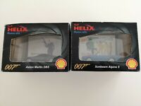 2 x Helix Shell 007 James Bond Diecast Cars - Aston Martin & Sunbeam Alpine 5