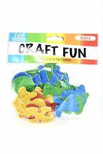 Glitter Letters Design Eva Foam Stickers, 52 ct.
