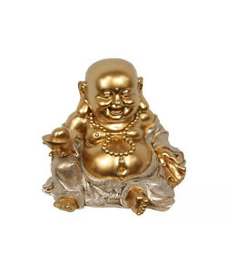 Laughing Buddha Statue Happy Money Lucky Fengshui Home Decor Figurine 19.5cm