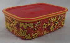 Tupperware A 150 Quadro Dose 500 ml Rot / Gelb mit Blumen Neu OVP