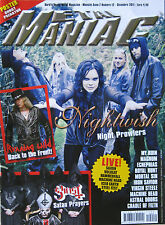 METAL MANIAC 12 2011 Nightwish Ghost Cradle Of Filth Virgin Steele Machine Head