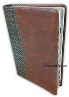 Biblia de Estudio Scofield Reina Valera 1960 duotono cafe y verde con indice