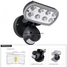 LED Sense 2 Security Spot Flood Light Outdoor Sensor Black PIERLITE