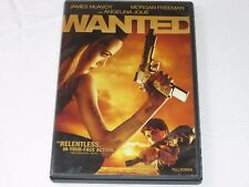 Wanted DVD 2008 Full Frame Rated R James Mcavoy Morgan Freeman Angelina Jolie