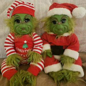 Grinch Dolls Cute Christmas Stuffed Plush Toy Xmas Gifts for Kids Home Decor❤