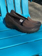 Merrell Plaza Spree Chestnut Saddle Womens Size 10 Slip-On Shoes Brown Wedge