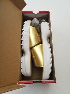 Fila Women's Disruptor-Metallic Metallic Gold Slides Sandals Shoes Size 8