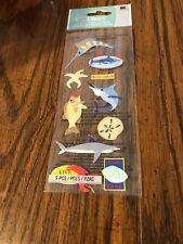 Jolee's Sealife Boutique Stickers Deep Sea Fishing Sword Fish Shark Lobster More