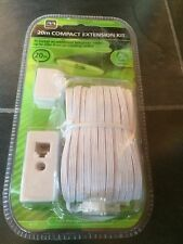 20m Telephone Extension Cable Kit Compact Flat BT Masterplug Modem Internet
