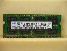 Samsung 4GB PC3-10600 DDR3 1333 LAPTOP MEMORY