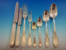 Empire by Puiforcat France Sterling Silver Flatware Set Service 96 pieces Dinner