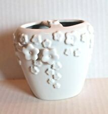 Saturday Knight Rainbow Garden Solid White Flowers Floral Toothbrush Holder New