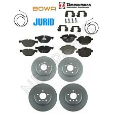 For BMW F10 535i 2011 Front and Rear Disc Brake Rotors and Pads and Sensors KIT