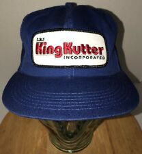 Vintage KING KUTTER Incorporated 80s Trucker Hat Cap Snapback USA K-Products