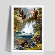 Waterfall Full Drill DIY 5D Diamond Painting Embroidery Cross Stitch Kit Decor