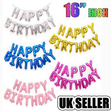 """Self Inflating 16"""" INCH Foil Number & Letters BALLOONS Happy Birthday Balloon"""