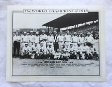 Babe Ruth 1918 Boston Red Sox World Series Champion Team Photo Fenway 2000 Promo