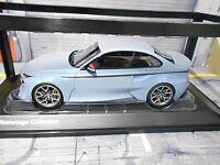 BMW 2002 Hommage M3 M4 Coupe Iceblue blau blue Concept Proto BMW Dealer NEU 1:18