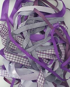 Purple Lilac Shade Ribbon Bundles Berisfords A Selection of 10 x 1m Lengths