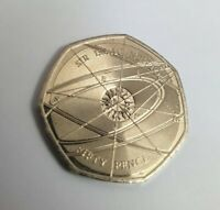 2017 Sir Isaac Newton  50p Fifty Pence Coin VGC