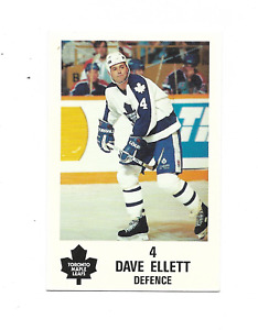1991-92 Maple Leafs PLAY #9 Dave Ellett Toronto Maple Leafs