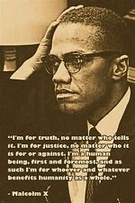 CIVIL RIGHTS LEADER MALCOLM X quote about truth poster POLITICAL 24X36 new