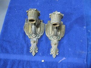 vintage art deco pair of sconces