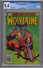 WOLVERINE LIMITED SERIES #4 CGC 9.4 WHITE PAGES NEWSSTAND