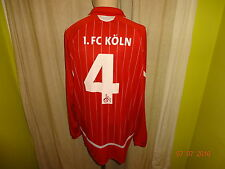 """1.FC Köln Adidas Langarm Junioren Matchworn Trikot 07/08 """"Galeria"""" + Nr.4 Gr.XL"""