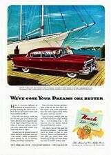 Old Print. Cherry 1952 Nash Ambassador Custom Four-Door Sedan Auto Advertisement