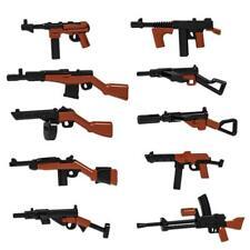 10tlg. Waffenset 2. Weltkrieg, 2 farbig passend für Lego® Cobi®, Kazi®, Sluban®