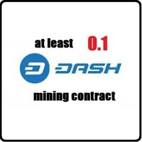 3 Hours Mining Contract 0.1 Dash Mining Contract