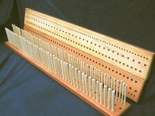 1200mm (4') Cherry Peg Loom, 3 gauge, 3 rows  - crafted from Yorkshire hardwood