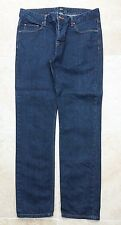 """ASOS"" MENS DARK BLUE JEANS, BUTTON FLY, SIZE 34X32 - USED"