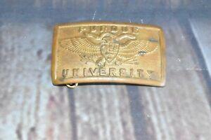 Vintage PURDUE University Mid Century NCAA College Uniform Belt Buckle /n3